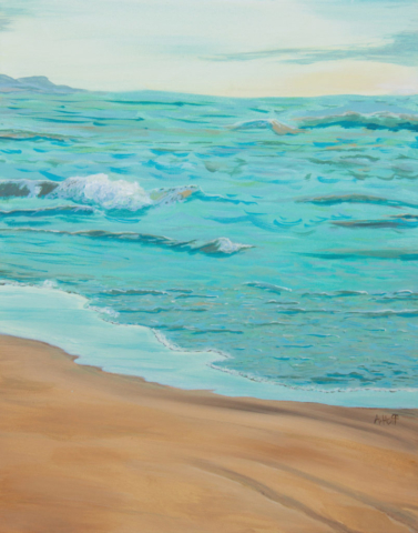 """Serenity"" - 16"" x 20"" Acrylic on canvas by artist April Hofffilename: IMG_2738SerenityWEB"