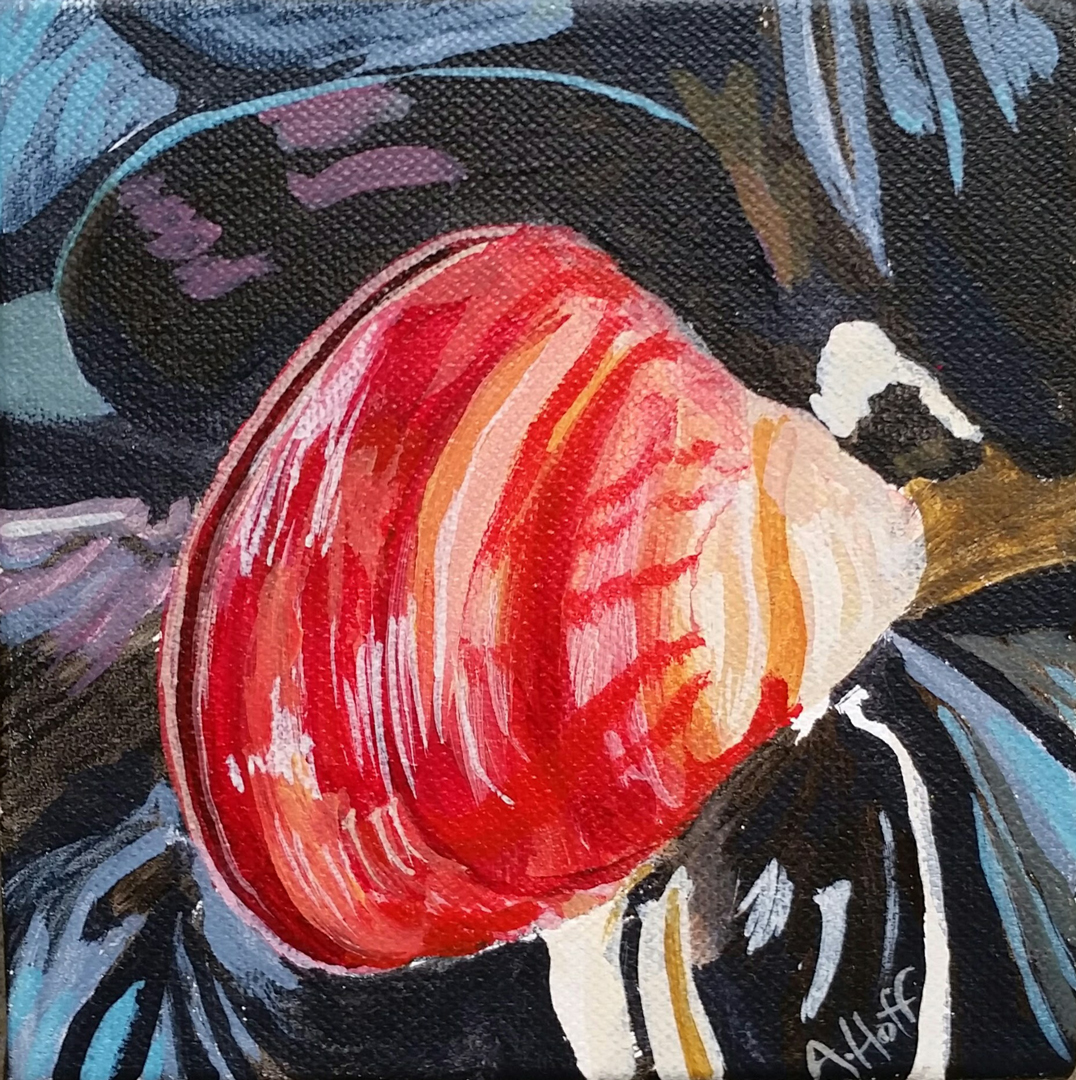 """""""Stand Out"""" - Acrylic on canvas - 5 x 5 in. - April Hoff. filename: standoutWEB"""